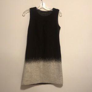 Zara brown and grey ombré dress sz small wool